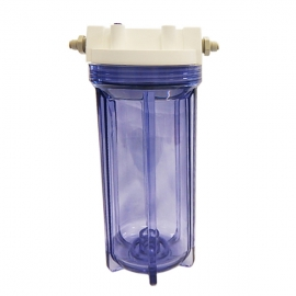 """Clear Water Filter Housing 10"""" x 2.5"""" with 3/4"""" Ports   Suit Brewing"""