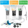 3 STAGE UNDER SINK DRINKING WATER COMPLETE FILTER SYSTEM - ACTIVATED CARBON