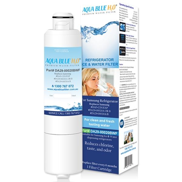 SRF653CDLS Samsung Fridge DA29-00020A/B Replacement Water Filters by Aqua Blue H2O