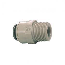 John Guest Grey Acetal Fittngs Straight Adaptor – BSPT Thread  PI010801S  1/4 x 1/8