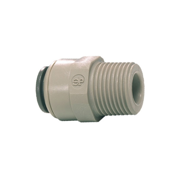 John Guest Grey Acetal Fittngs Straight Adaptor – BSPT Thread  PI010802S  1/4 x 1/4
