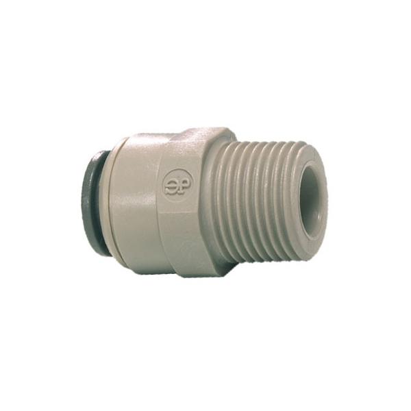 John Guest Grey Acetal Fittngs Straight Adaptor – BSPT Thread  PI011604S  1/2 x 1/2