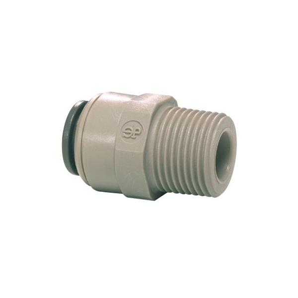 John Guest Grey Acetal Fittngs Straight Adaptor NPTF Thread  PI010621S  3/16 x 1/8