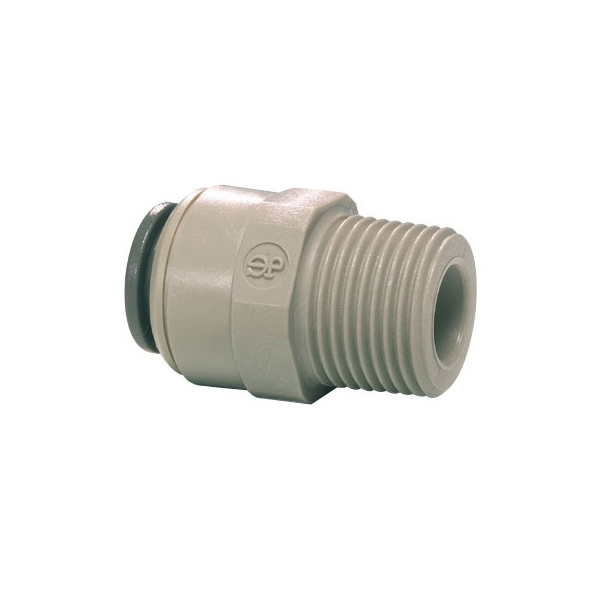 John Guest Grey Acetal Fittngs Straight Adaptor NPTF Thread  PI011223S  3/8 x 3/8