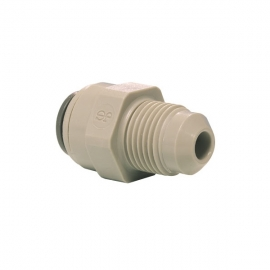 John Guest Grey Acetal Fittngs Straight Adaptor British Nipple Type  PM0108E6S 	5/16 x 9/16