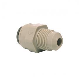 John Guest Grey Acetal Fittngs Straight Adaptor MFL Thread  PI0108F4S  1/4 X 1/4