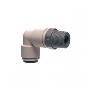 John Guest Grey Acetal Fittngs Swivel Elbow BSPT Thread  PI090601S  3/16 x 1/8