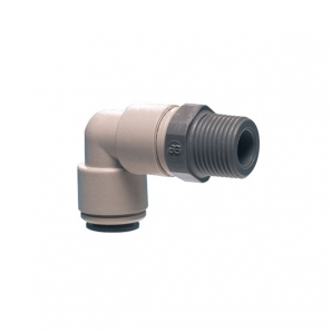 John Guest Grey Acetal Fittngs Swivel Elbow BSPT Thread  PI091603S  1/2 x 3/8