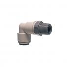 John Guest Grey Acetal Fittngs Swivel Elbow NPTF Thread  PI091223S  3/8 x 3/8