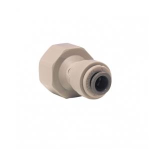 John Guest Grey Acetal Fittngs Female Adaptor BSP Thread Flat End PI451213S  3/8 x 3/8