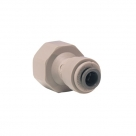 John Guest Grey Acetal Fittngs Female Adaptor BSP Thread Flat End PI451214FS 3/8 x 1/2