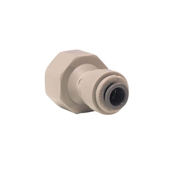 John Guest Grey Acetal Fittngs Female Adaptor BSP Thread Flat End PI451215FS  3/8 x 5/8