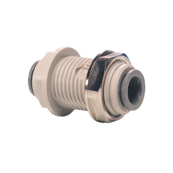 "John Guest Grey Acetal Fittngs Bulkhead Connector PI1206S  3/16"""