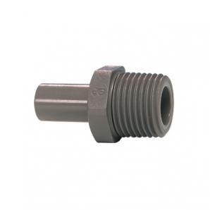 John Guest Grey Acetal Fittngs Stem Adaptor BSPT Thread PI050601S  3/16 x 1/8