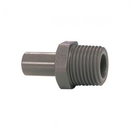 John Guest Grey Acetal Fittngs Stem Adaptor BSPT Thread PI050802S  1/4 x 1/4