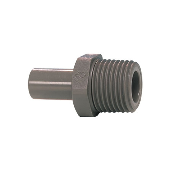 John Guest Grey Acetal Fittngs Stem Adaptor BSPT Thread PI051203S 3/8 x 3/8