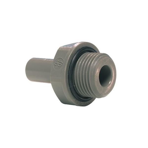 John Guest Grey Acetal Fittngs Stem Adaptor BSP Thread PI051213S  3/8 x 3/8