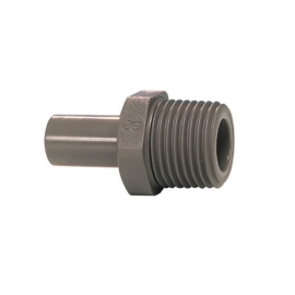 John Guest Grey Acetal Fittngs Stem Adaptor NPTF Thread PI050822S  1/4 x 1/4