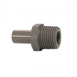 John Guest Grey Acetal Fittngs Stem Adaptor NPTF Thread PI050823S  1/4 x 3/8