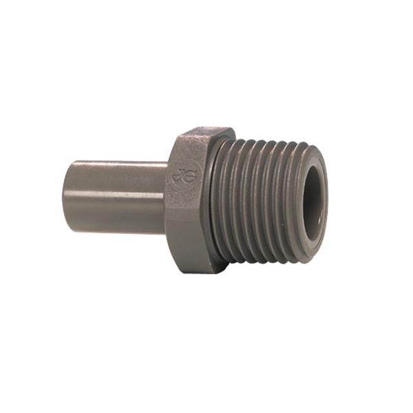 John Guest Grey Acetal Fittngs Stem Adaptor NPTF Thread PI051223S  3/8 x 3/8