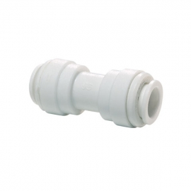 John Guest White Acetal Fittings Equal Straight Connector CI0408W Tube OD 1/4""