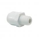 John Guest White Acetal Fittings Straight Adaptor NPTF Thread CI010823W  1/4 x 3/8