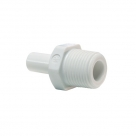 John Guest White Acetal Fittings Stem Adaptor NPTF Thread CI050822W  1/4 x 1/4