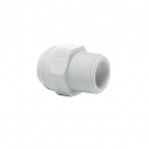 John Guest Polypropylene Fittings Straight Adaptor NPTF Thread PP010822W  1/4 - 1/4