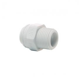 John Guest Polypropylene Fittings Straight Adaptor NPTF Thread PP010822W  1/4 - 1/4