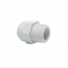 John Guest Polypropylene Fittings Straight Adaptor NPTF Thread PP011224W  3/8 - 1/2