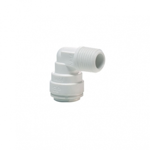 John Guest Polypropylene Fittings Rigid Elbow NPTF Thread PP480822W  1/4 x 1/4