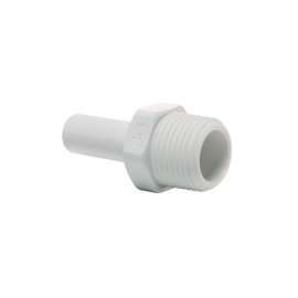 John Guest Polypropylene Fittings Stem Adaptor PP050821W 1/4 x 1/8