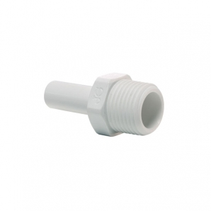 John Guest Polypropylene Fittings Stem Adaptor PP050822W  1/4 x 1/4