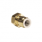 John Guest Brass Fittings Brass Female Connector FFL Thread MI4512F6S  3/8 x 3/8