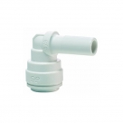 John Guest White Polypropylene Fittings Stem Elbow PPM220808W  8MM - 8MM