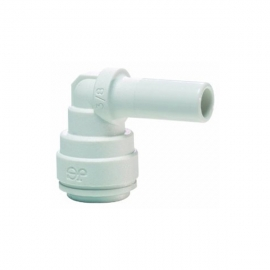 John Guest White Polypropylene Fittings Stem Elbow PPM221212W 12MM - 12MM