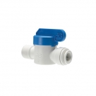 John Guest Polypropylene Shut-Off Valve Speedfit To Male NPTF Adaptor PPSV011223W  3/8 - 3/8