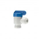 John Guest Polypropylene Shut-Off Valve Speedfit To Female NPTF Adaptor PPSV501222W  3/8 - 1/4