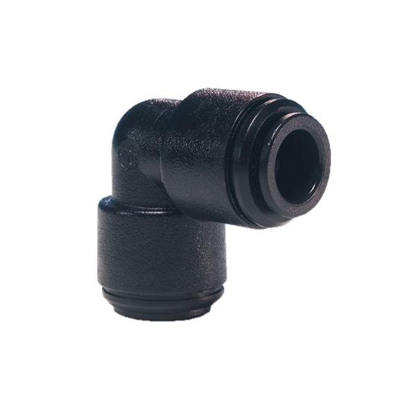 John Guest Black Acetal Fittings Equal Elbow PM0318E  18mm