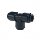 John Guest Black Acetal Fittings Equal Tee PM0222E 22mm