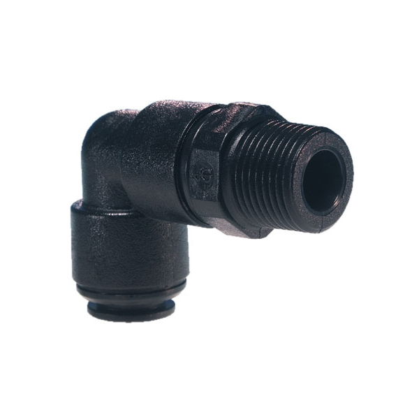 John Guest Black Acetal Fittings Swivel Elbow BSPT Thread PM090803E 8mm x 3/8
