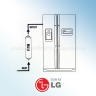 3* LG EXTERNAL INLINE FRIDGE WATER FILTERS BL9808, 3890JC2990A, DA2010CB WITH PUSH FIT CONNECTIONS