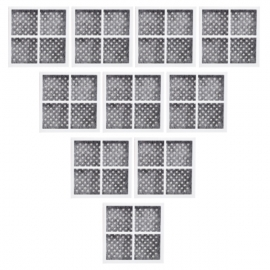10x ADQ73214404 / LT120F LG Air Purifying Fresh Air Filter