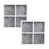 2X LG replacement filter  ADQ36006101 with 2X  Air filter ADQ73214404 Generic