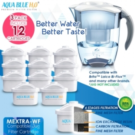 12 x Brita Maxtra Compatible Water Filter Jug Cartridges