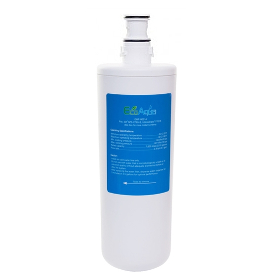 EcoAqua EWF-8001A Water Filter fits F701R 3M AP3-765S Hot Water Tap