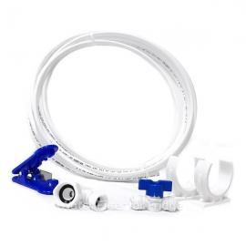 "Fridge Freezer Water Filter Hose 1/4"" Connection Kit + Hose Cutter"