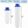 """7"""" Cerametix gravity feed ceramic candle"""