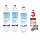3 pack LG  Water Filter ADQ7361340 with 3 Pack of  Air Filter ADQ73214404