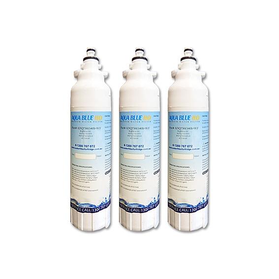 3 xL G Replacement ADQ73613401  LT800P Fridge Filter by Aqua Blue H2O